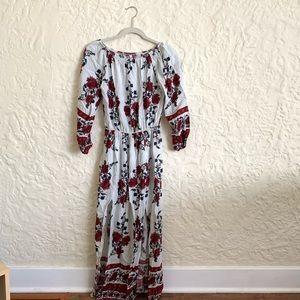 NWOT Floral Off-the-Shoulder Midi/Maxi Dress Sz S